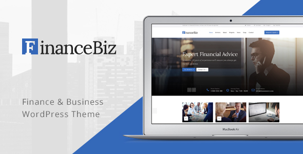Finance Biz - Finance & Business WordPress Theme