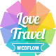 Love Travel - Travel Agency For Travel And Tour Webflow Nulled