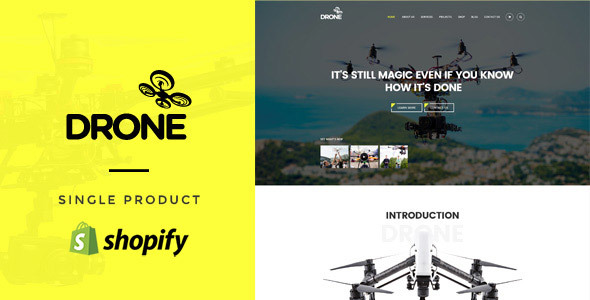 Drone - Single Product Shopify Theme - Technology Shopify