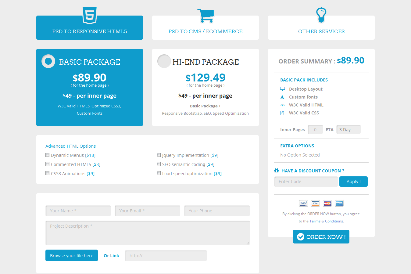 Ordernow responsive order form by responsiveexperts codecanyon ordernow responsive order form falaconquin