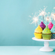 Cupcakes with sparklers - PhotoDune Item for Sale