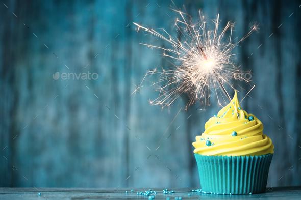 Celebration cupcake - Stock Photo - Images