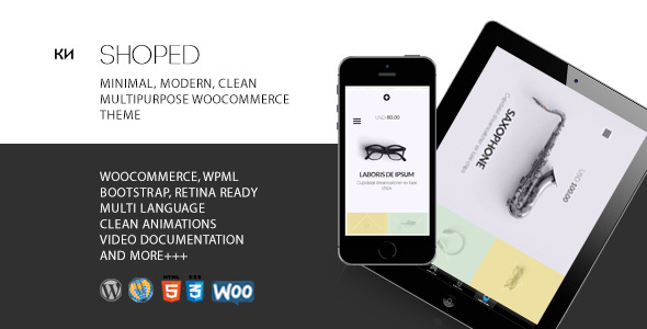 Shoped – Multipurpose, Minimal WooCommerce Theme