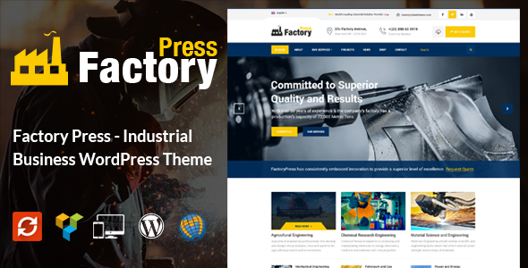 FactoryPress – Factory, Company And Industry WP Theme