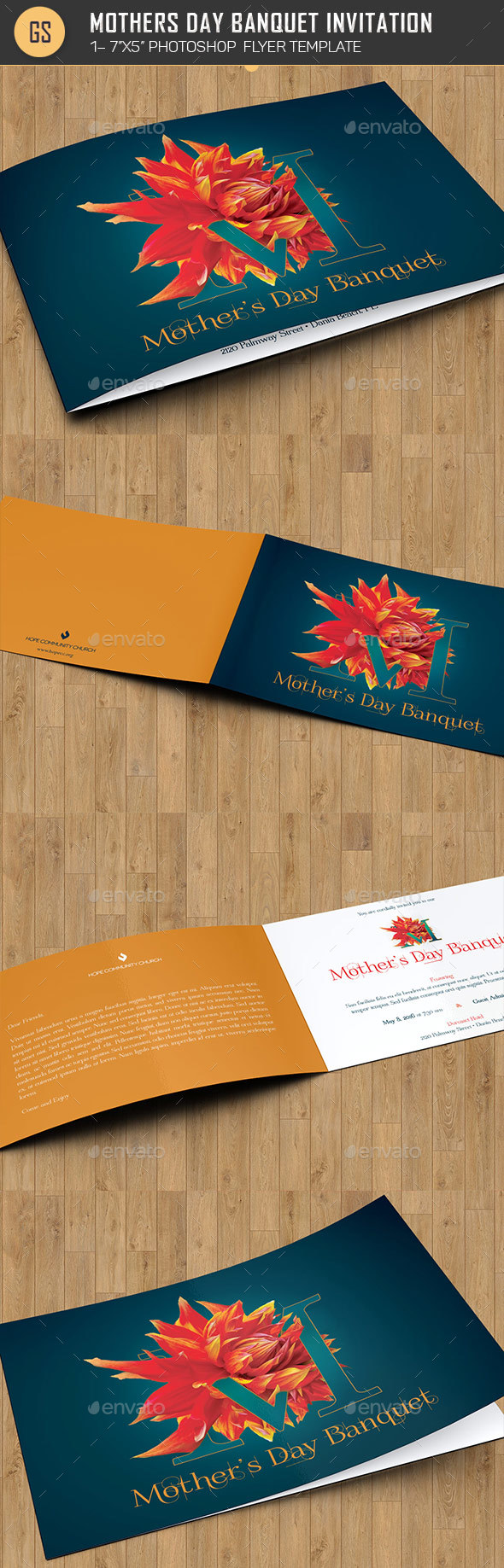 Mothers Day Banquet Invitation Template - Invitations Cards & Invites
