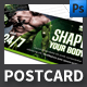 Shape Your Body Postcard Template - GraphicRiver Item for Sale