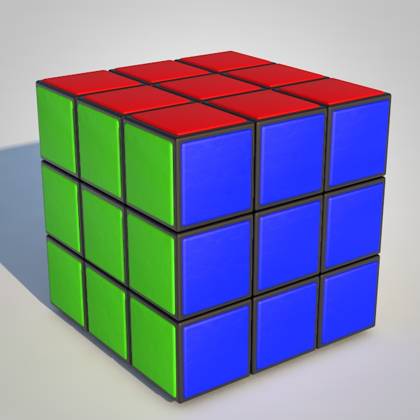 Rubik's Cube - 3DOcean Item for Sale