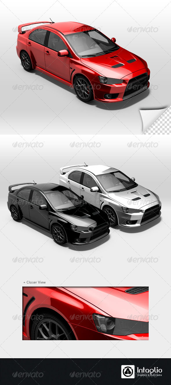 Red Rally Car Render 003 - Objects 3D Renders