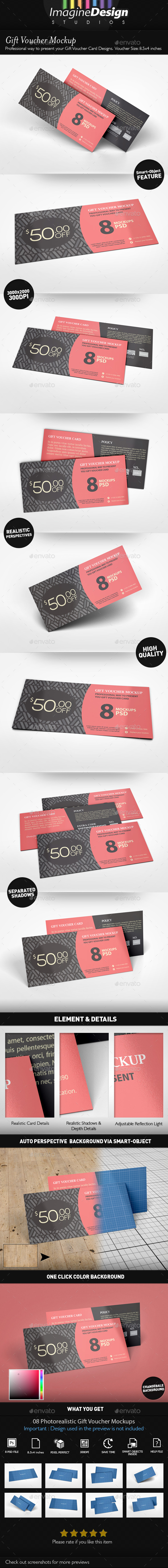 Gift Voucher Mockup - Miscellaneous Print