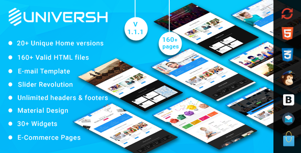 Universh – Material Education, Events, News, Learning Centre & Kid School MultiPurpose HTML Template