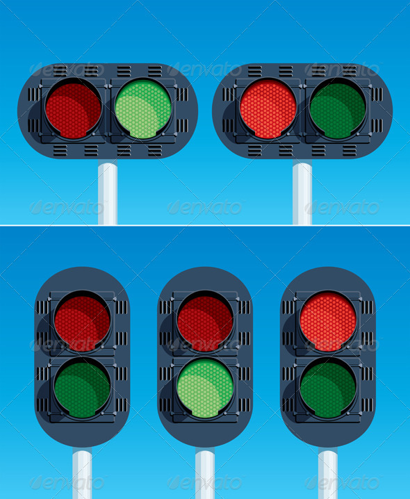 Railway Traffic Lights - Man-made Objects Objects