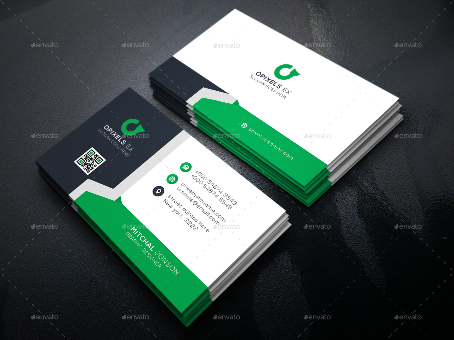 Corporate business card by abirhasan graphicriver corporate business card reheart Gallery