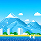 Sea View with Mountains Peaks - GraphicRiver Item for Sale