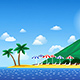 Tropical Landscape with Beach - GraphicRiver Item for Sale
