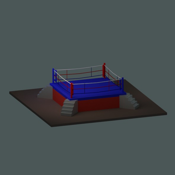 low poly boxing ring - 3DOcean Item for Sale