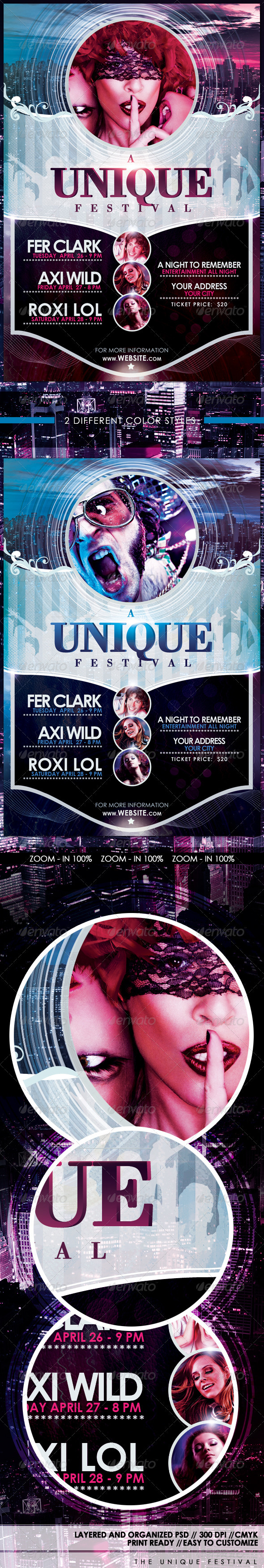 A Unique Festival Flyer Template - Clubs & Parties Events