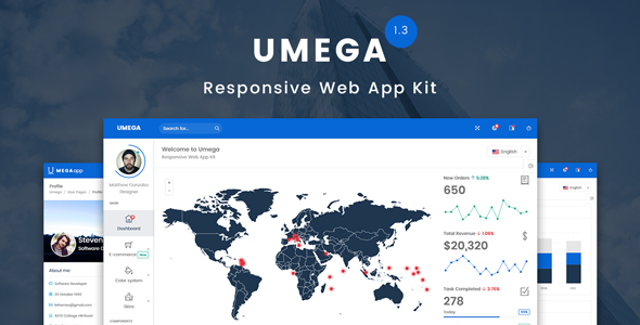 Umega - Responsive Web App Kit