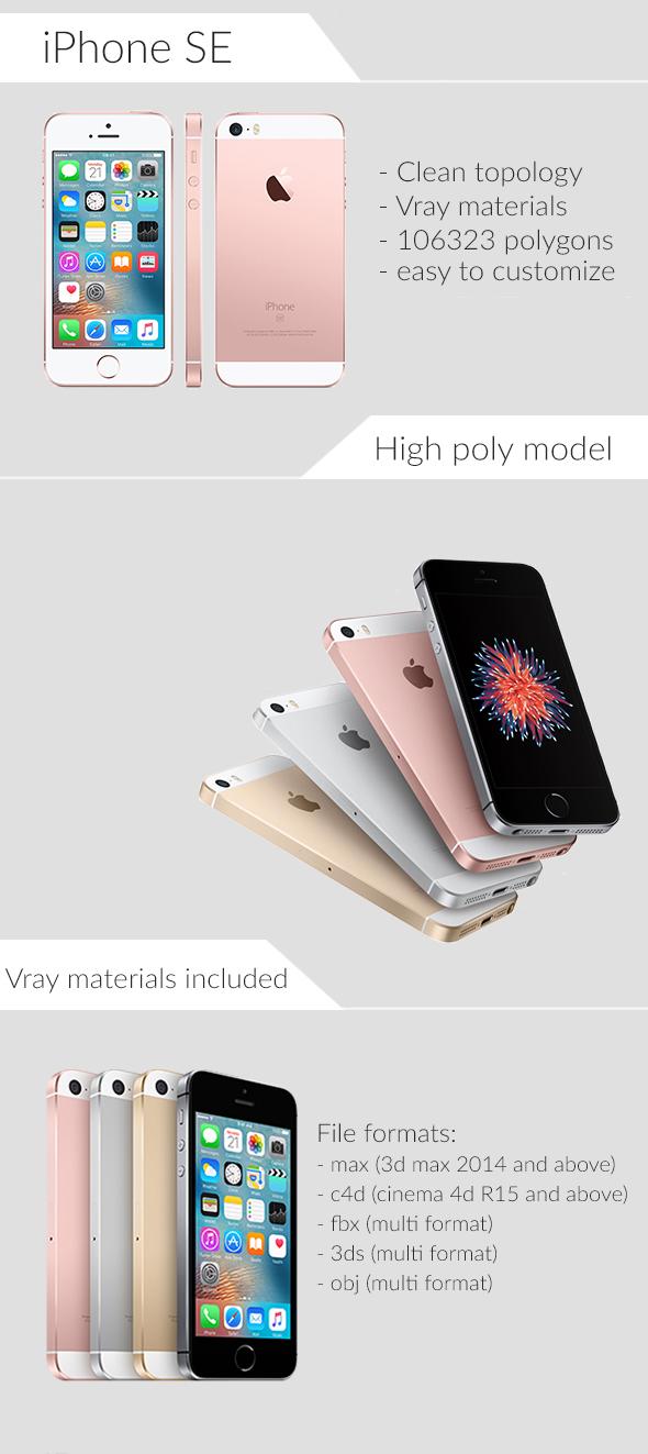 Apple iPhone SE - 3DOcean Item for Sale