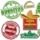 Tacos and burritos stamps - GraphicRiver Item for Sale