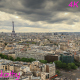 Paris cityscape with Eiffel Tower 3 - VideoHive Item for Sale