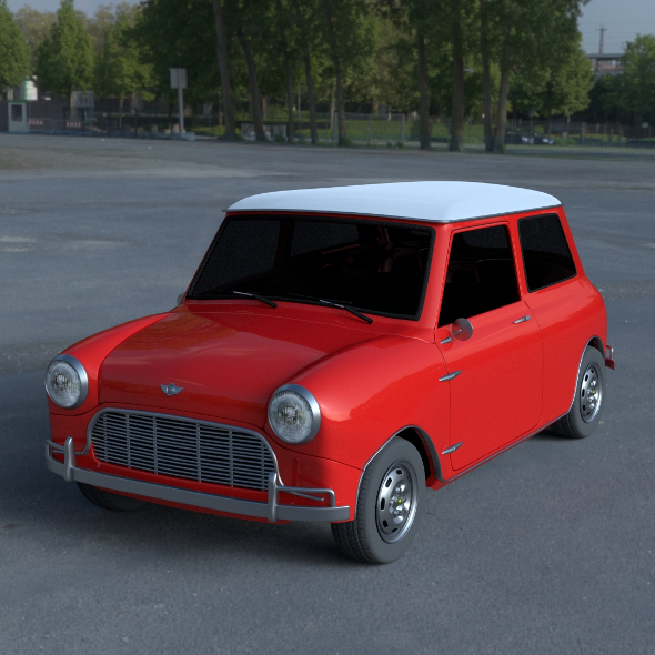 Mini Cooper HDRI - 3DOcean Item for Sale