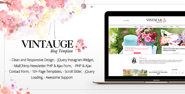 Vintauge – Responsive Blog & Fashion Ghost Blog Theme