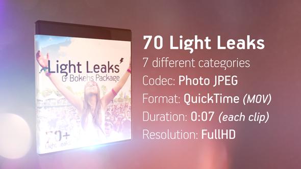 Light Leaks & Bokehs Package (MOV) óng ánh