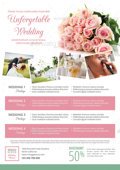 Wedding Planner Flyers Designs