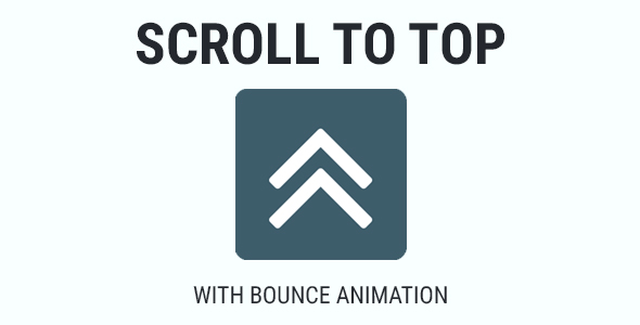 Scroll To Top - Bounce Animation - CodeCanyon Item for Sale