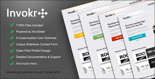 Free Download Invokr Premium Landing Page Nulled Latest Version