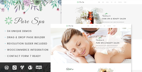 Pure - Spa & Beauty Responsive WordPress Theme - Health & Beauty Retail