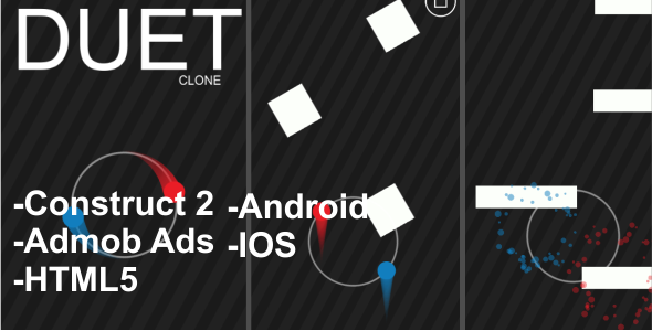 Download Sourcode              DUET Clone - HTML5, ANDROID, IOS Mobile Game + Admob nulled version
