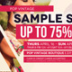 Sample Sale Flyer  - GraphicRiver Item for Sale