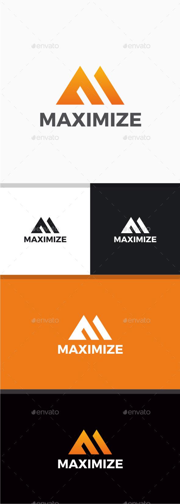 Maximize - Letter M Logo - Letters Logo Templates
