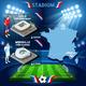 Download Vector Lille Stadium Pierre Mauroy, Marseille Stadium Velodrome France