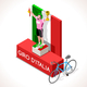 Cyclist Giro Italia Winner Isometric People - GraphicRiver Item for Sale