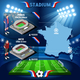 Paris Parc de Prince Stadium and Nice Stadium - GraphicRiver Item for Sale