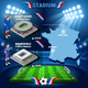 France Stadium Saint Denis Stade de France and Bordeaux  - GraphicRiver Item for Sale