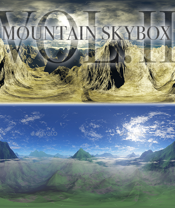 Mountains Skybox Pack Vol.II - 3DOcean Item for Sale