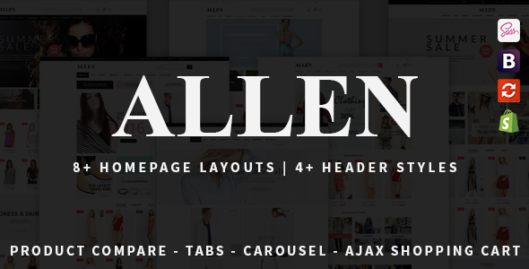 Allen – Multipurpose Responsive Shopify Theme