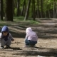 Boy And Girl Are Playing With Ball In The Forest  - VideoHive Item for Sale