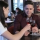 Couple Drink Red Wine At The Restaurant - VideoHive Item for Sale
