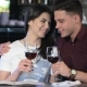 Man Hugs His Girlfriend At The Restaurant - VideoHive Item for Sale