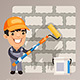 Wall Repair with Worker - GraphicRiver Item for Sale