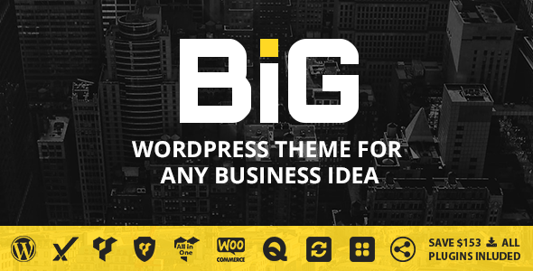 B.I.G – WordPress Theme for Any Business Idea