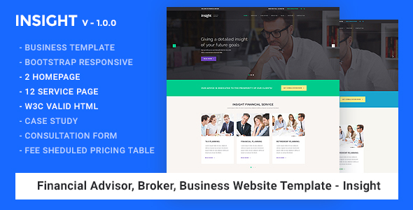Financial Advisor, Business Website Template - Insight
