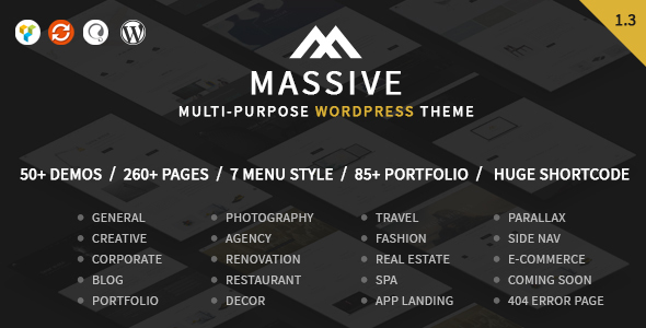 Massive – Responsive Multi-Purpose WordPress Theme