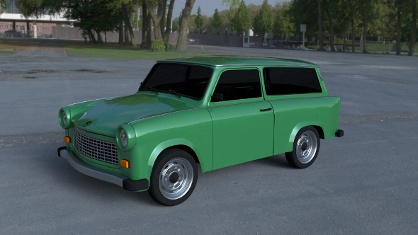 Trabant 601 Estate HDRI - 3DOcean Item for Sale