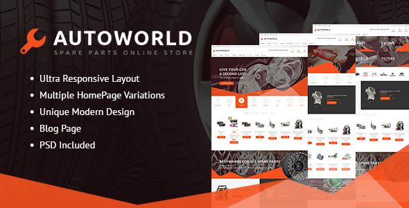 Autoworld - Spare Parts Responsive PrestaShop 1.6 and 1.7 Theme