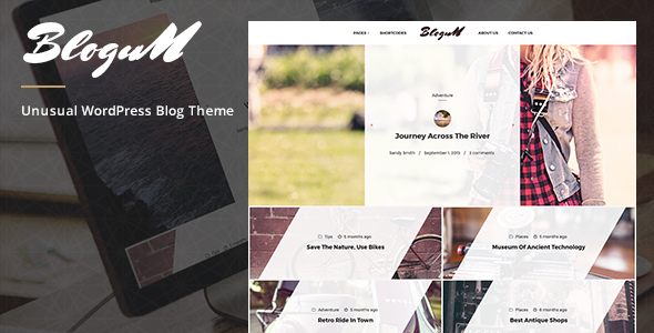 Blogum – Unusual WordPress Blog Theme